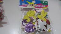 Blister figuras y numeros de goma eva purpurin de colores adhesivas manualidades