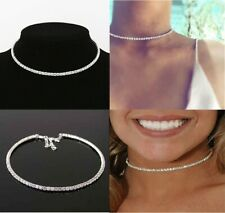 Diamante Crystal Diamond Simulated Rhinestone Necklace Choker Chain Top Bridal