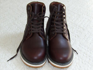 Express Contrast Sole Brown/White Men's LEATHER Boots Size 10.5
