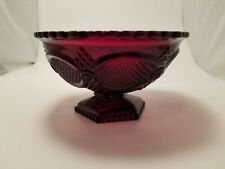 "Vintage Avon Cape Cod Ruby Red Collection Candy Dish - 6"" across"