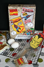 WILLIAMS-SONOMA MARVEL COMIC COOKIE CUTTER SET WITH AN IRON MAN SPATULA - NIB