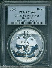 2009 SILVER PANDA 10Y 10-Yn Yuan S10Y PCGS MS69 CHINA FS FIRST STRIKE