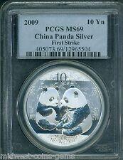 2009 SILVER PANDA 10Y 10-Yn Yuan S10Y PCGS MS69 CHINA FS FIRST STRIKE