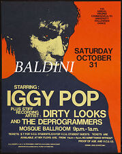 IGGY POP -HIGH QUALITY EARLY VINTAGE 1981 CONCERT POSTER, LOOKS GREAT FRAMED