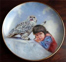 Gregory Perillo LtdEd Plate: WATCHFUL EYES Indian Child