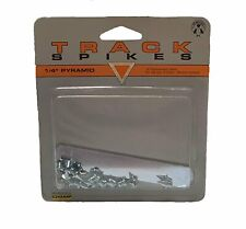 """12 Replacement Champ Track Spikes - 1/4"""" Pyramid- Wrench Included"""