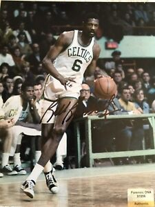 Bill Russell Autographed 8 X 10 Celtics Game Day Photo COA CERTIFIED