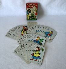 Vintage EARLY Example Clifford Toys ANIMAL RUMMY Card Game +Instructs VG Cards