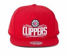 Los Angeles LA Clippers NBA Mitchell & Ness Red Snapback Hat Cap Griffin