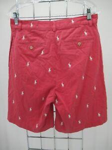 P4603 VTG Men's Polo Ralph Lauren Allover Pony Tyler Shorts Size 30