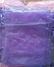 25 Organza bags Purple12 x 16cm Wedding favors,  jewellery, gift bags FREEPOST