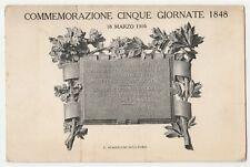 CARTOLINA - COMMEMORAZIONE CINQUE GIORNATE 1848 1405/C