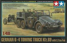 TAMIYA 1:48 KIT MEZZO MILITARE GERMAN 6X4 TOWING TRUCK KFZ. 69 WITH PAK   32580