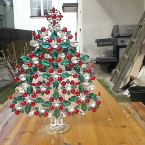 -15% - Czech handmade Rhinestones Christmas tree  decoration