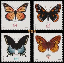 4462 4603 4736 4859 Butterfly Set of 4 First Class Surcharge Rates MNH - Buy Now