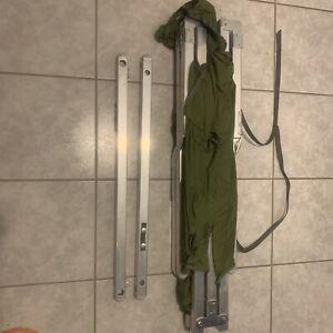 US Army Military Army Alu Folding cot Outdoor Feldbett Bett XL 210 x 65 x 42 cm