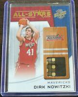 2010-11 Panini All Stars Season Update Jersey Dirk Nowitzki 1/10 Dallas