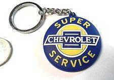 GM Chevrolet Schlüsselanhänger Keyring Silikon Super Service Logo 44mm round
