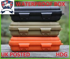 LARGE WATERPROOF BOX CASE AIRTIGHT STORAGE IPHONE COMBAT SURVIVAL KIT/TIN