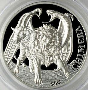 2018 1500 Shilling Tanzania Chimera 2oz .999 Silver Proof Coin PCGSPR70DCAM FD