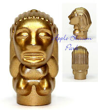 NEW Lego Minifig GOLD IDOL Indiana Jones Head Golden Temple Statue Treasure 7623