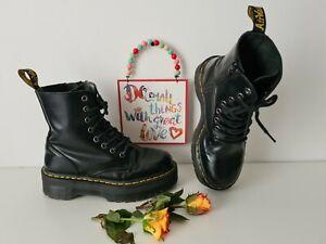 Dr Martens Jadon black chunky platform boots UK 5 EU 38 US 7 double sole