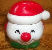 "Collectible Ceramic ""Santa"" Candle Holder- 2.75""H x 2.5"" X 2.5"""