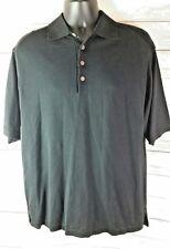 Tommy Bahama Black Men's Medium M Polo Shirt Woven Silk Super Soft Button