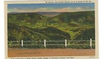 1945 postcard - The Devil's Saddle on U.S. Rout 50, W.Va.