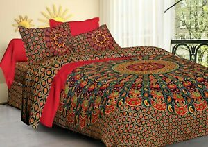 Bright Colors King Duvet Cover Sets Lightweight Comforter Cover Cotton Printed