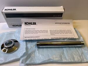 KOHLER K-7394-cp 6-Inch Ceiling Mount Showerarm, Polished Chrome Accessories