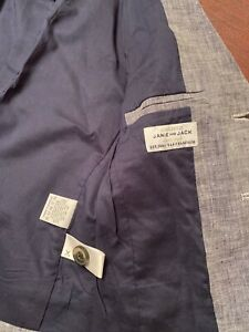 Toddler Boy JANIE AND JACK Blue Cotton  Blazer Jacket Size 3