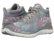 SKECHERS - Flex Appeal 2.0 (Gray/Mint) Women's Lace up casual Shoes (Size 10)