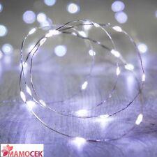 FILO NUDO Bianco Freddo 20 luci a LED impermeabili Natale Lanterne a batteria