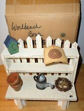 Boyds Bears Potting Bench #654851 In Box Workbench Accessory Birdhouse Nest VTG