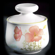 """BRIGHT SIDE Noritake Covered Sugar Bowl 4.25"""" tall NEW NEVER USED Japan #9079"""