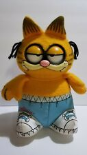 """Vintage Talking Garfield Exercise """"I hate jogging, Time for a brisk nap"""" Grumpy"""