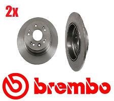 Set of 2 Brembo  Rear Disc Brake Rotors Honda CRV 02-04