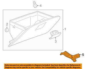 Chevrolet GM OEM 13-15 Spark Glove Compartment Box-Latch Striker 95210614