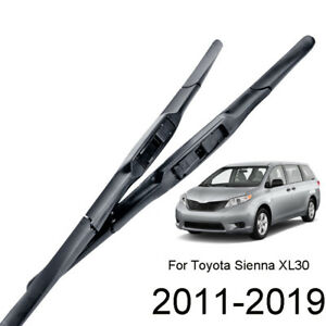 Set of 2 Front Windshield Wiper Blades For Toyota Sienna 2011 2012 2013 2014 15