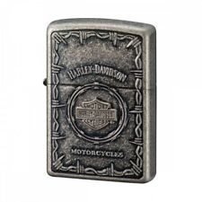 HARLEY-DAVIDSON Logo ZIPPO Lighter HDP-68 metal Silver Shield Japan Limited