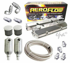 HOLDEN COMMODORE V8 253 308 ALLOY ROCKER COVERS & BREATHER CATCH CAN KIT