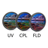 UV+CPL+FLD Lens Filter Set with Bag for Cannon Nikon Sony Pentax Camera LenWTTS