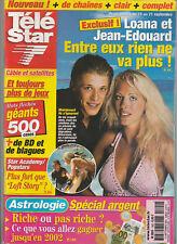Télé Star N°1302 - 10/09/2001 - Loana Et Jean-Edouard - Belmondo - S. Nacery