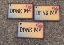 6 Drink Me Tags - Mad Hatters Tea party wedding/birthday decorations