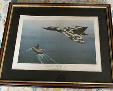 "Keith Woodcock Aircraft print ""Cold War Warrior"" 14"" x 9"" Vintage FRAMED"
