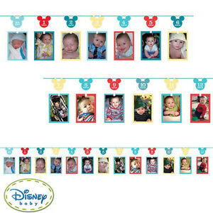 Mickey 1st Birthday Party Supplies Decorations PHOTO GARLAND