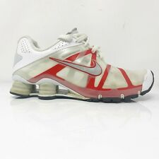 Nike Mens Shox Roadster Plus 487604-106 Red White Running Shoes Lace Up Size 9