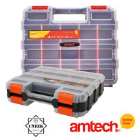34 Section Tool Organiser Compartment Double Sided Storage Box Amtech - S6463