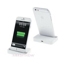 NUOVO Desktop Dock di ricarica stand Stazione Caricabatteria per Apple iPhone 6s/6 Bianco